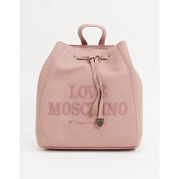 Love Moschino essential backpack in light pink