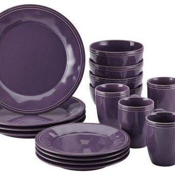 Rachael Ray - Cucina 16-Piece Dinnerware Set - Lavender Purple
