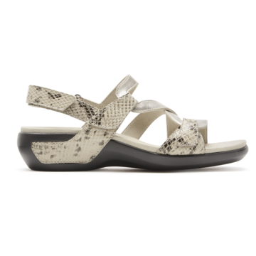Aravon Womens Power Comfort S-Strap Sandal - Size 5 B Grey