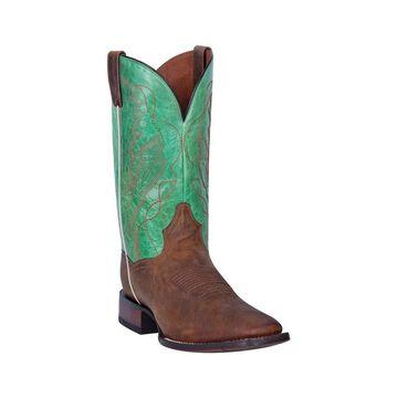Dan Post Western Boots Mens Marco Leather Stockman Heel Green