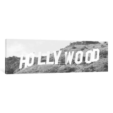 iCanvas ''Hollywood Sign in Black & White''