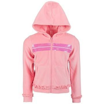 Ideology Little Girls Velour Sequin Zip-Up Hoodie, Created for Macy's