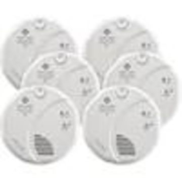 First Alert SC7010B 6-Pack AC Hardwired Combination Smoke and Carbon Monoxide Detector with Battery Back-Up