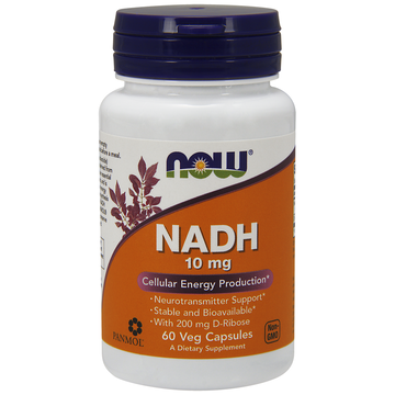NADH 10mg with 200mg Ribose Now Foods 60 VCaps