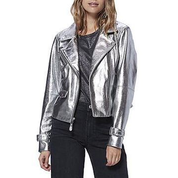 Paige Ashby Metallic Leather Moto Jacket