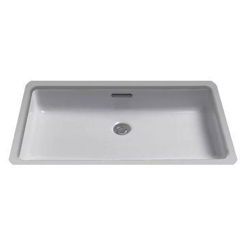 Toto Rectangular Undermount Bathroom Sink, CeFiONtect, Colonial White