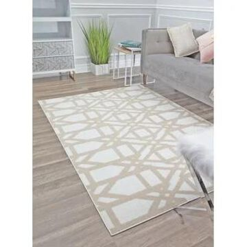 Mika Modern & Contemporary Geometric Area Rug by Rugs America (8' x 10' - Milk and Honey)