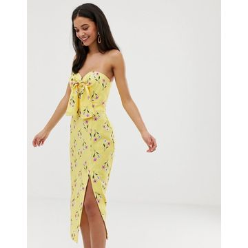 Finders Keepers limoncello midi dress-Yellow