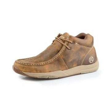 Roper Casual Shoes Mens Leather Casual Chukka Tan