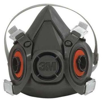 3M 6300 Half Face Respirator - Large, Black, 24/Case