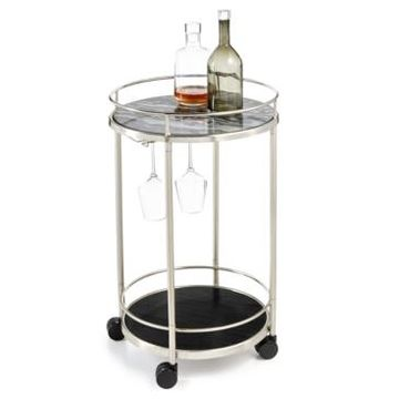 Hotel Collection Round Bar Cart, Created for Macy's