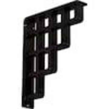 Ekena Millwork Diane 12-in x 2-in x 10-in Black Countertop Support Bracket