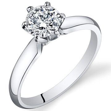 Oravo 14k White Gold IGI Certified Diamond Solitaire Ring 0.92 carat, E-F Color