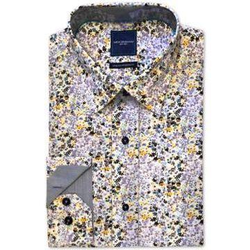 Nick Graham Men's Modern-Fit Stretch Floral-Print Dress Shirt