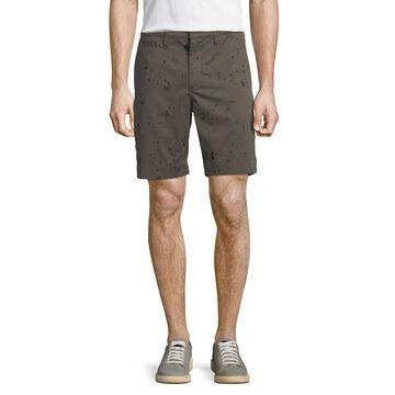 Men's Inkdrop-Print Shorts