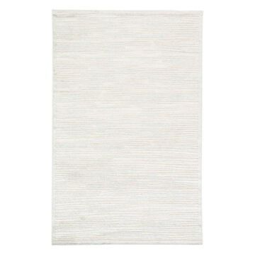 Jaipur Living Linea Abstract Silver/White Area Rug, 5'x7'6
