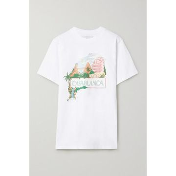 Casablanca - Casa Views Printed Cotton-jersey T-shirt - White