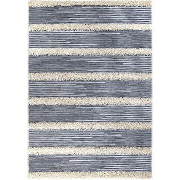 Orian Rugs Navajo Traverse 5 x 8 Blue Indoor/Outdoor Stripe Farmhouse/Cottage Area Rug