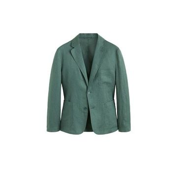 MANGO MAN - Slim fit 100% linen blazer green - 36 - Men