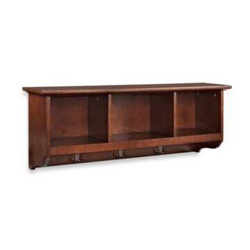 Crosley Brennan Entryway Storage Shelf Bookcase in Mahogany