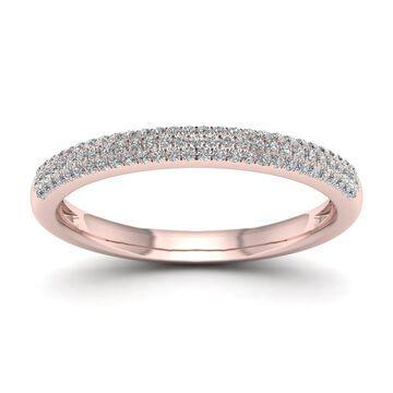 De Couer 1/4ct TDW Diamond Wedding Band - Pink