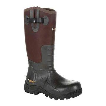 Rocky Men's Sport Pro Pull-On Snake Waterproof Boot Brown Rubber/Textile