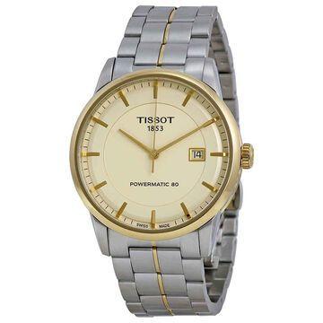 Tissot Powermatic 80 Ivory Dial Men's Watch T0864072226100