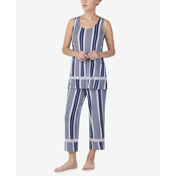 Sleeveless Top and Cropped Pajama Pants Set