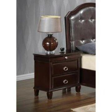 Triton 3-drawer Wood Nightstand (Cappuccino)