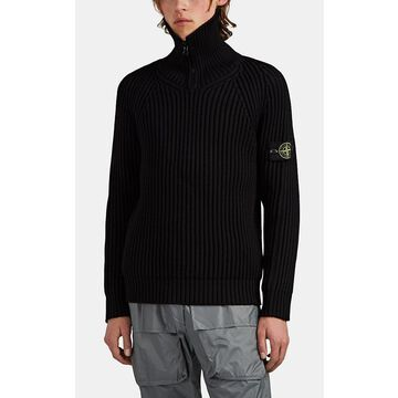 Stone Island Wool Half-Zip Sweater