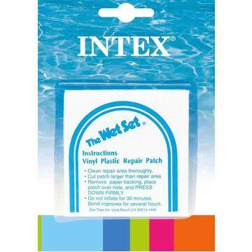 Intex INTEX Wet Set Adhesive Vinyl Plastic Swimming Pool Tube Repair Patch 30 Pack Kit | 108830