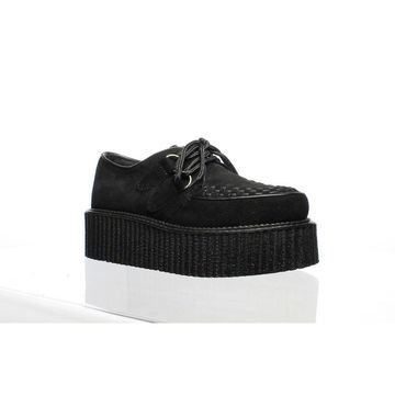 Demonia Mens Creeper Black Suede Fashion Sneaker Size 4