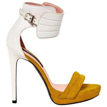 Barbara Bui Yellow Suede Sandals