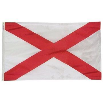 Alabama State Flag 4x6 ft. Nylon Official State Design Specifications.
