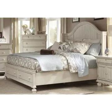Laguna Antique White Storage Bed by Greyson Living (King)