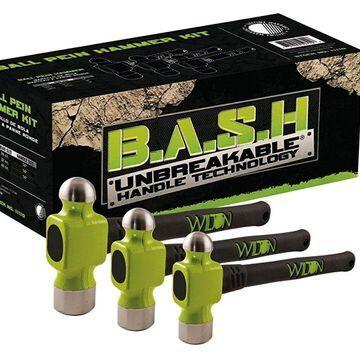 Wilton WIL-11110 Ball Pein Hammer Kit, 3 Piece