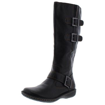 B.O.C. Womens Austin Riding Boots Faux Leather Wide Calf