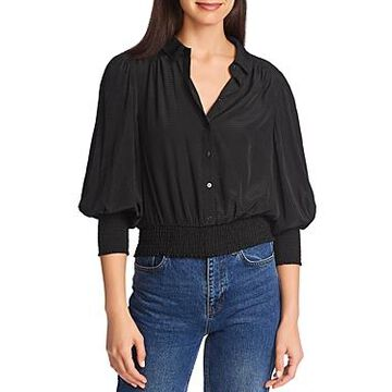 1.state Dotted Smock-Trim Top