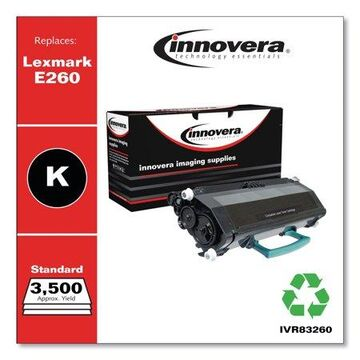 Innovera Remanufactured Black Toner Cartridge, Replacement for Lexmark E260 (E260A21A), 3,500 Page-Yield -IVR83260