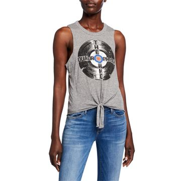 The Who Record Graphic Tie-Hem Tank Top