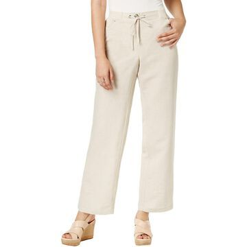 JM Collection Womens Studded High Rise Wide Leg Pants