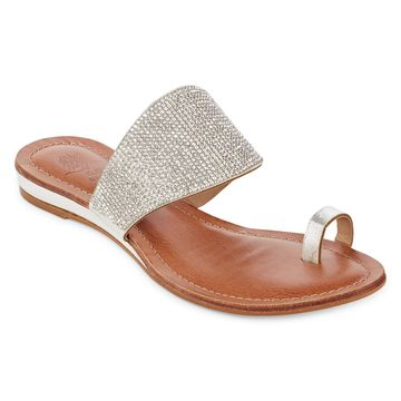 GC Shoes Womens Delicia Flat Sandals