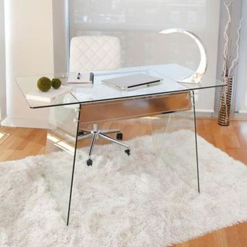 LumiSource Clear Glacier Desk