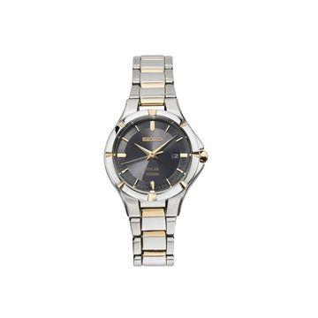 Seiko Womens Two Tone Stainless Steel Bracelet Watch-Sut316