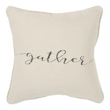 Rizzy Home Gather Down Fill throw pillow, Natural, 20X20