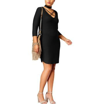 No Comment Womens Plus Choker Sheath Casual Dress