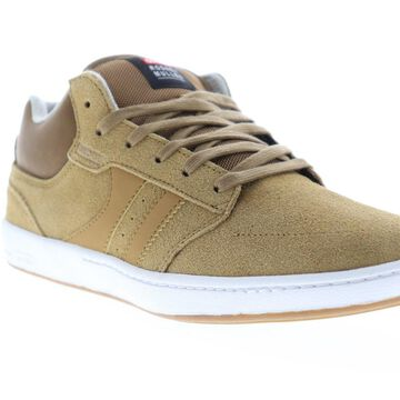 Globe Octave Mid RM Mens Tan Suede Athletic Skate Shoes