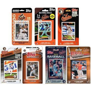 C & I Collectables MLB Baltimore Orioles 7 Different Licensed Trading Card Team Sets