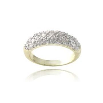 DB Designs Rhodium-plated 1/4ct TDW Black Diamond Ring (7 - Yellow)