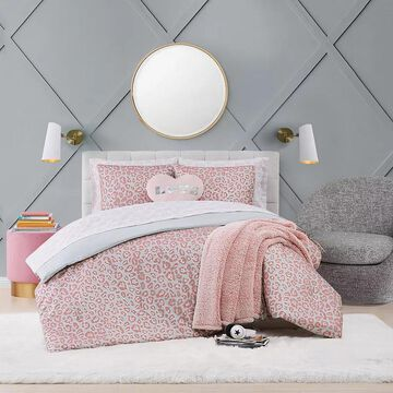 Material Girl Leopard Complete Bedding Set, Multicolor, Twin
